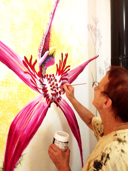 Spider Orchid Mural