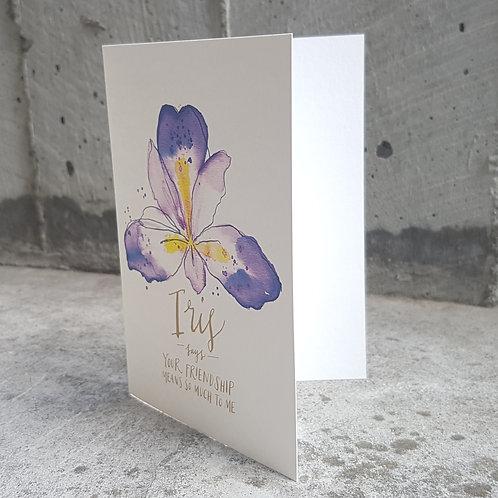 IRIS  | GREETING CARD