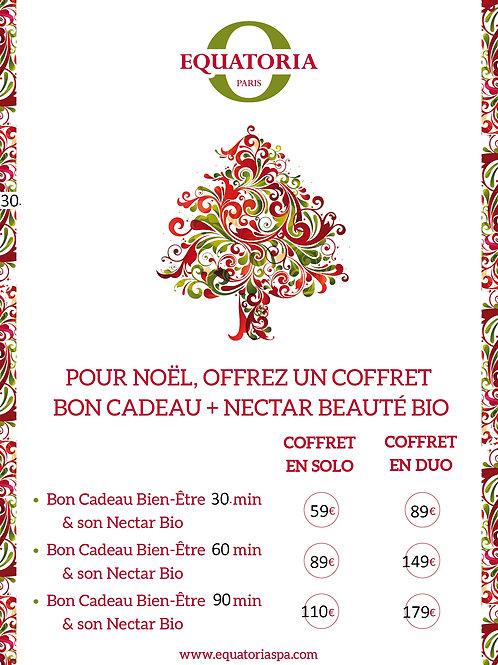 Coffret Noel Bon cadeau 30 min Solo + nectar Beauté Bio