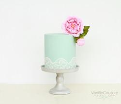 Pastel boda peonia