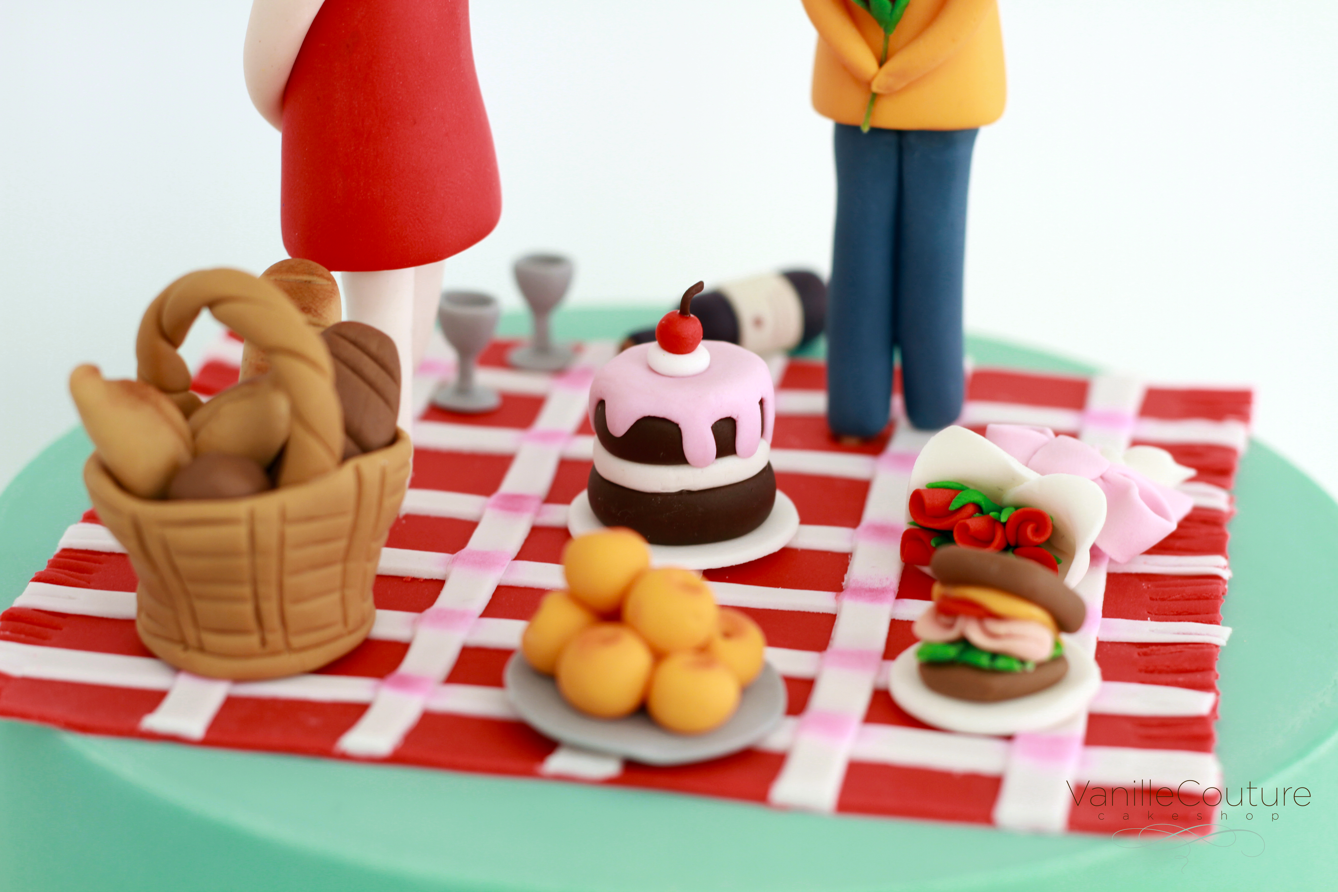 Pastel pareja aniversario picnic