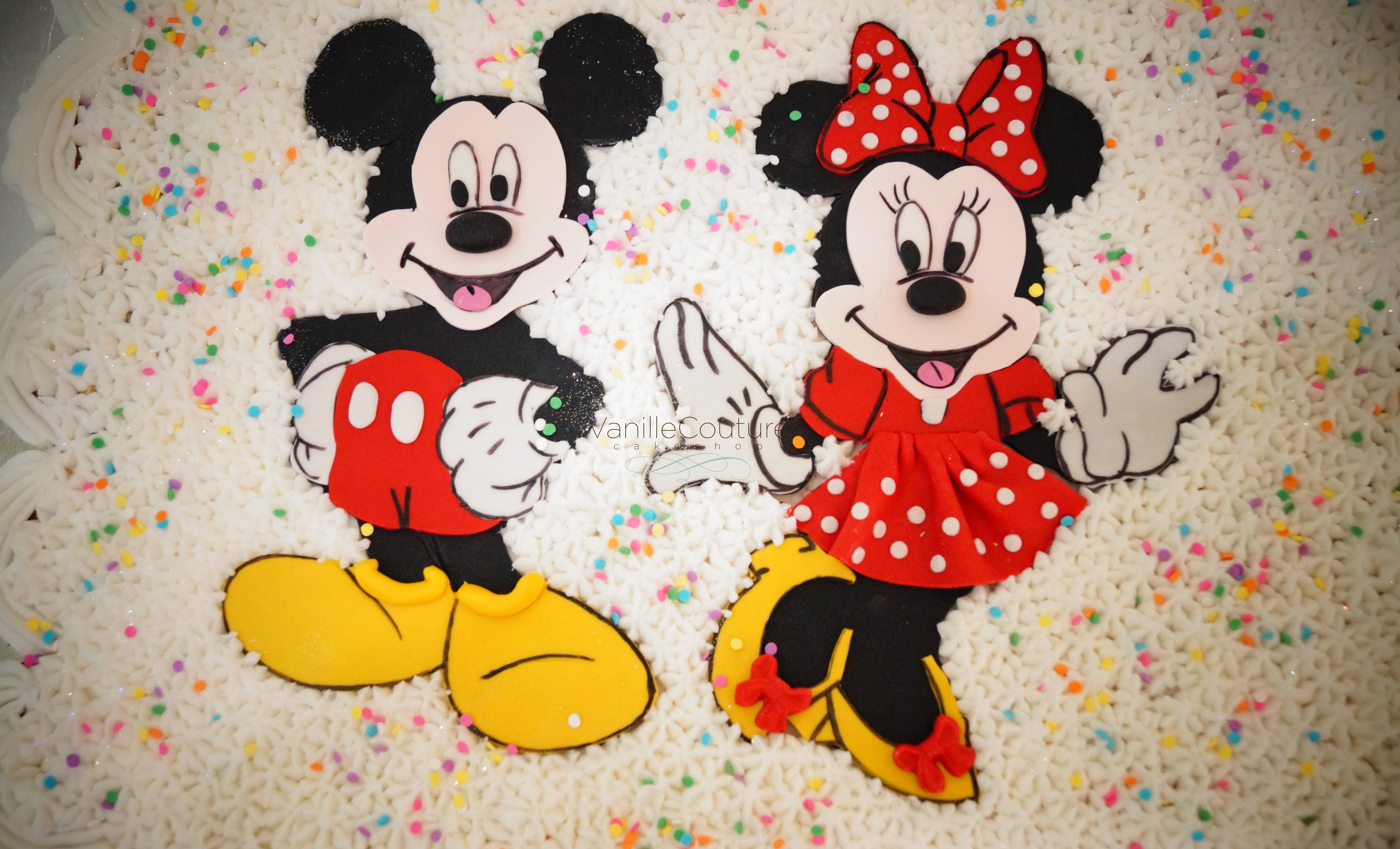 Pastel de cupcakes Mickey Minnie