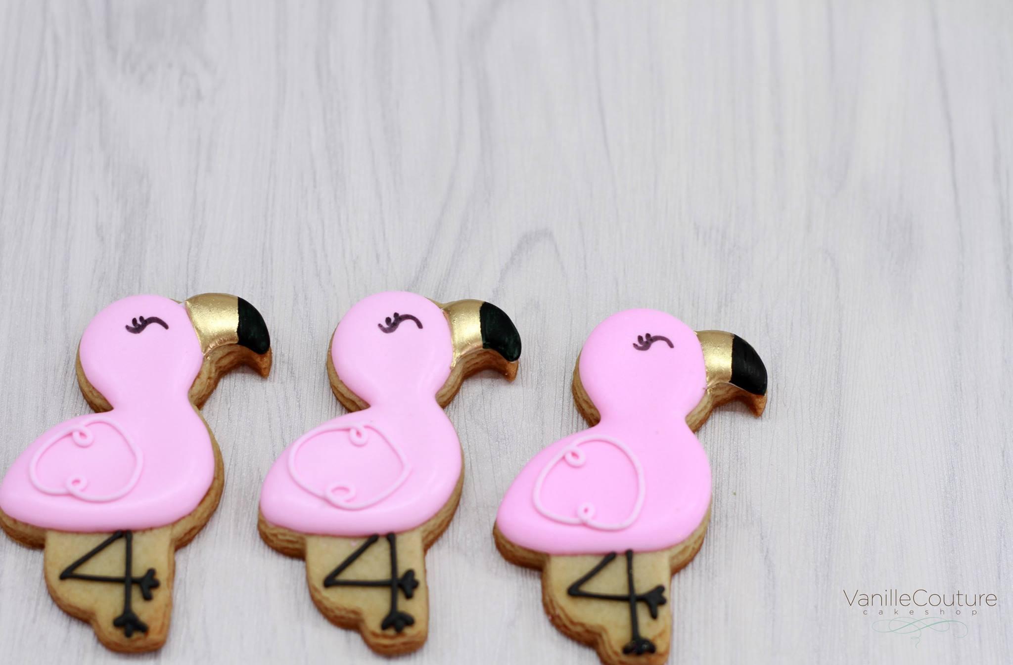 Galletas flamingos