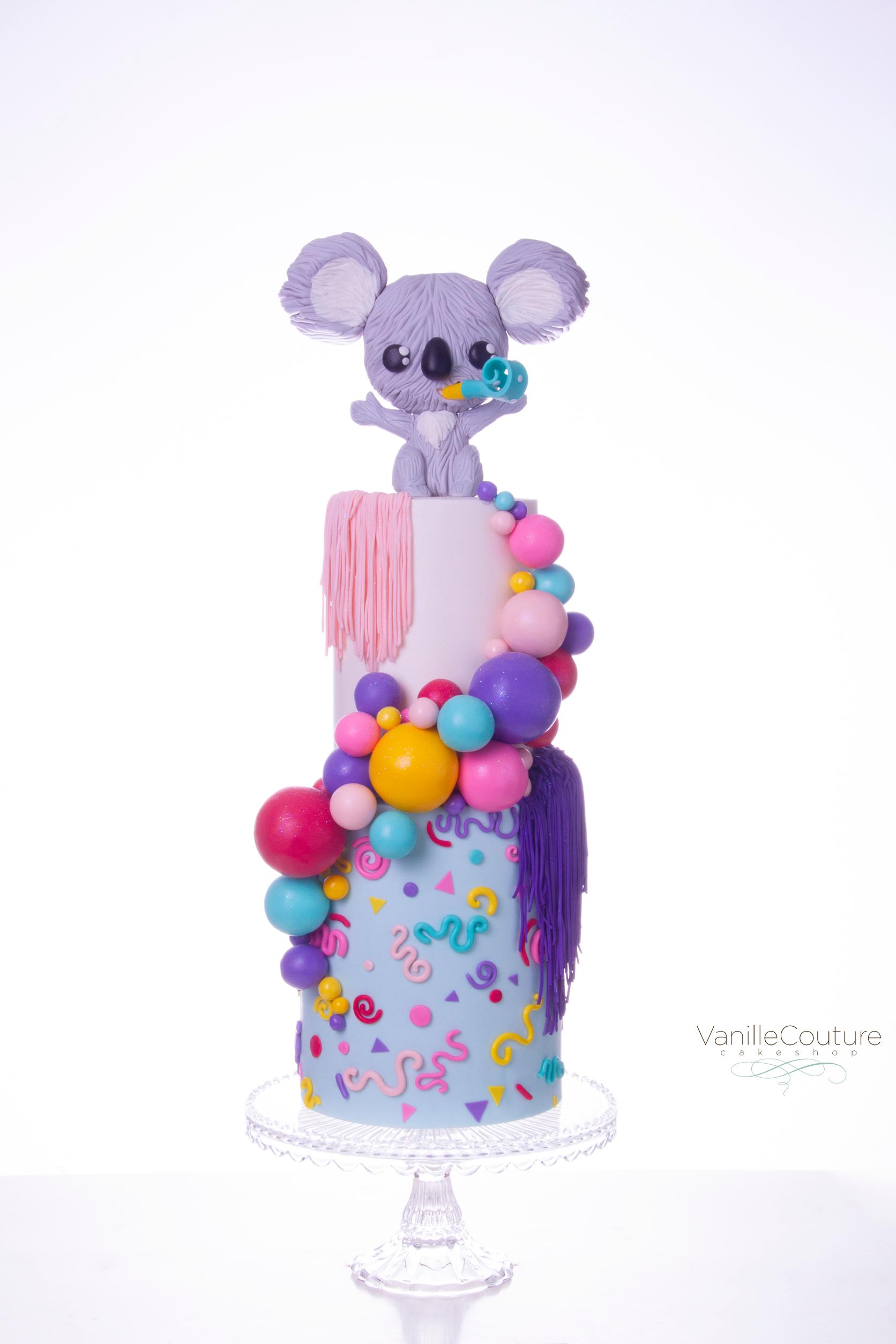 Pastel cumpleaños koala