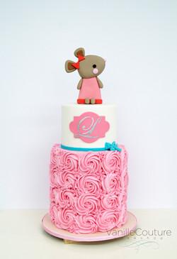 Pastel ratoncita rosa