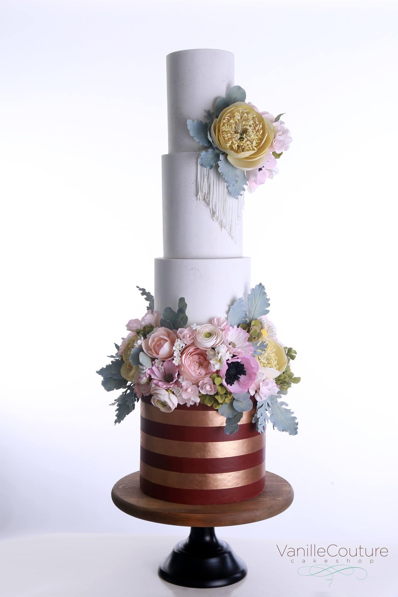 Pastel de boda boho