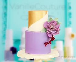 Pastel de boda suculentas moradas