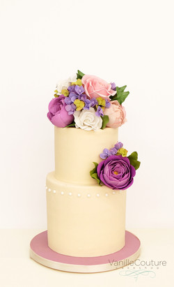 Pastel boda flores