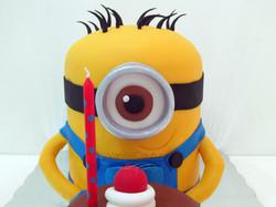 Pastel de Minion 3D