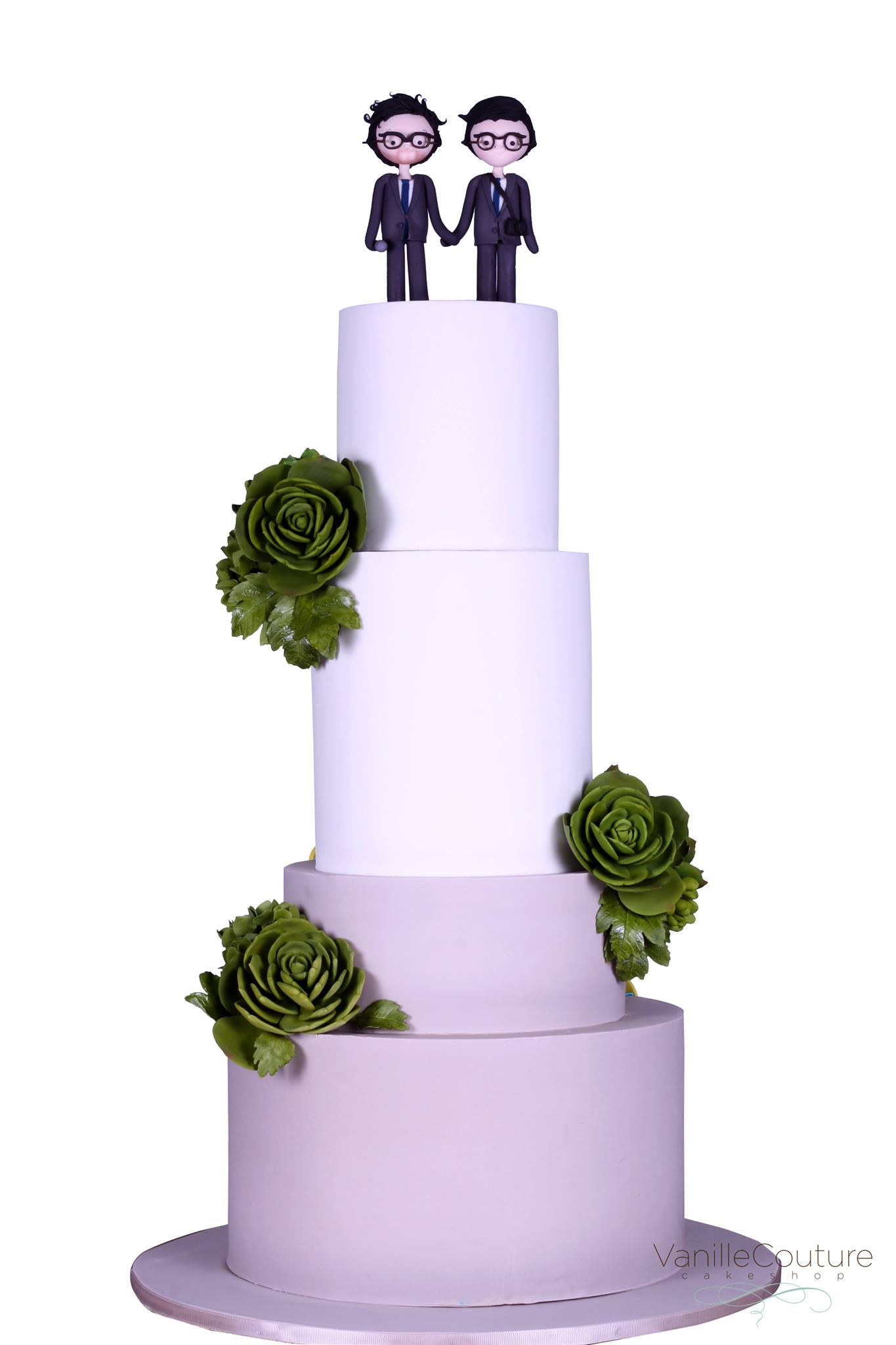 Pastel de boda novios