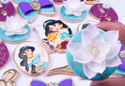 Galletas pintadas a mano 3D Aladdin Jasmine