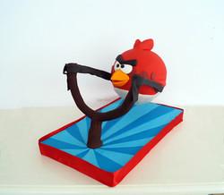 Pastel Angry Birds 3D flotante