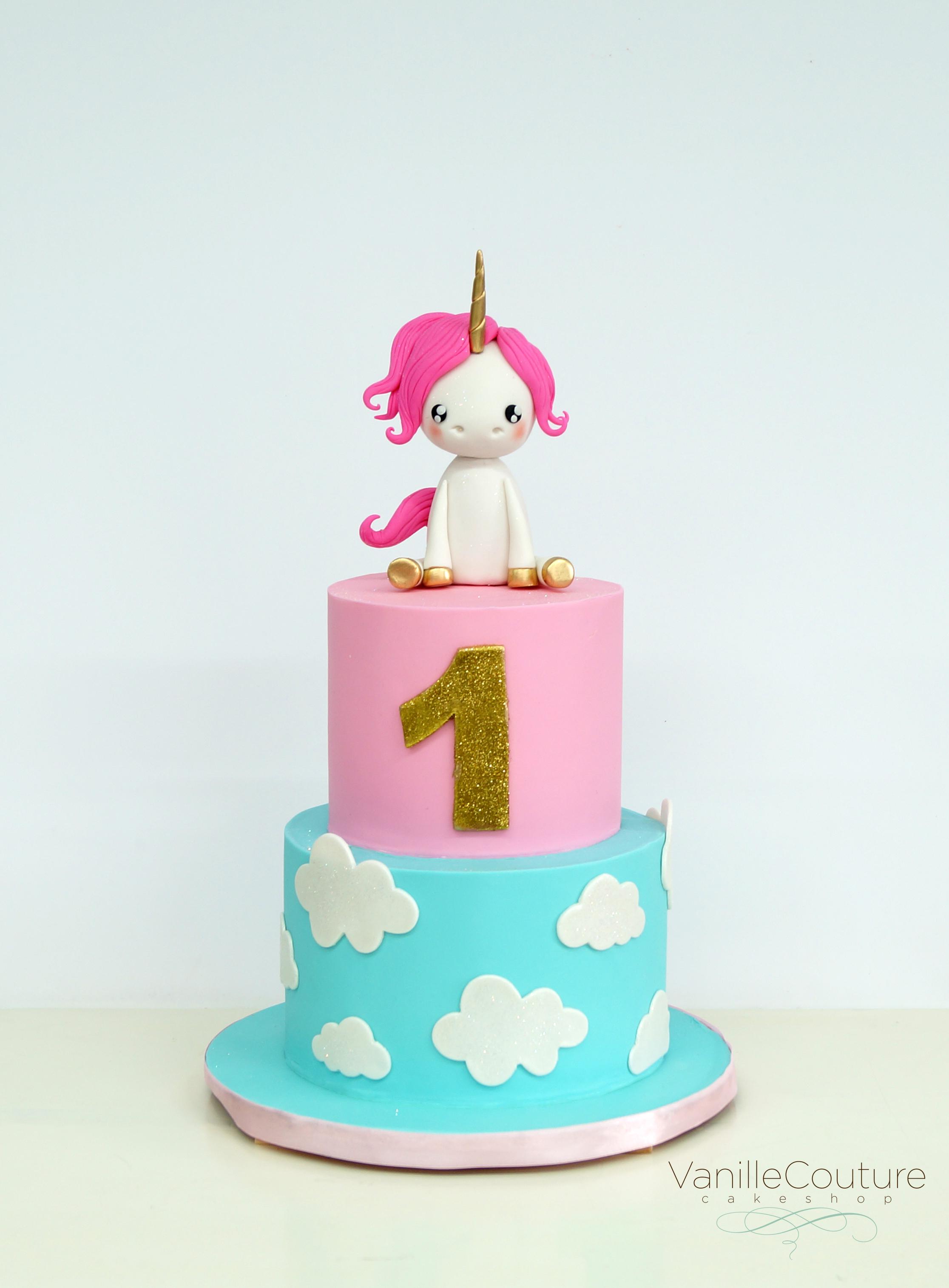 Pastel unicornio bebe