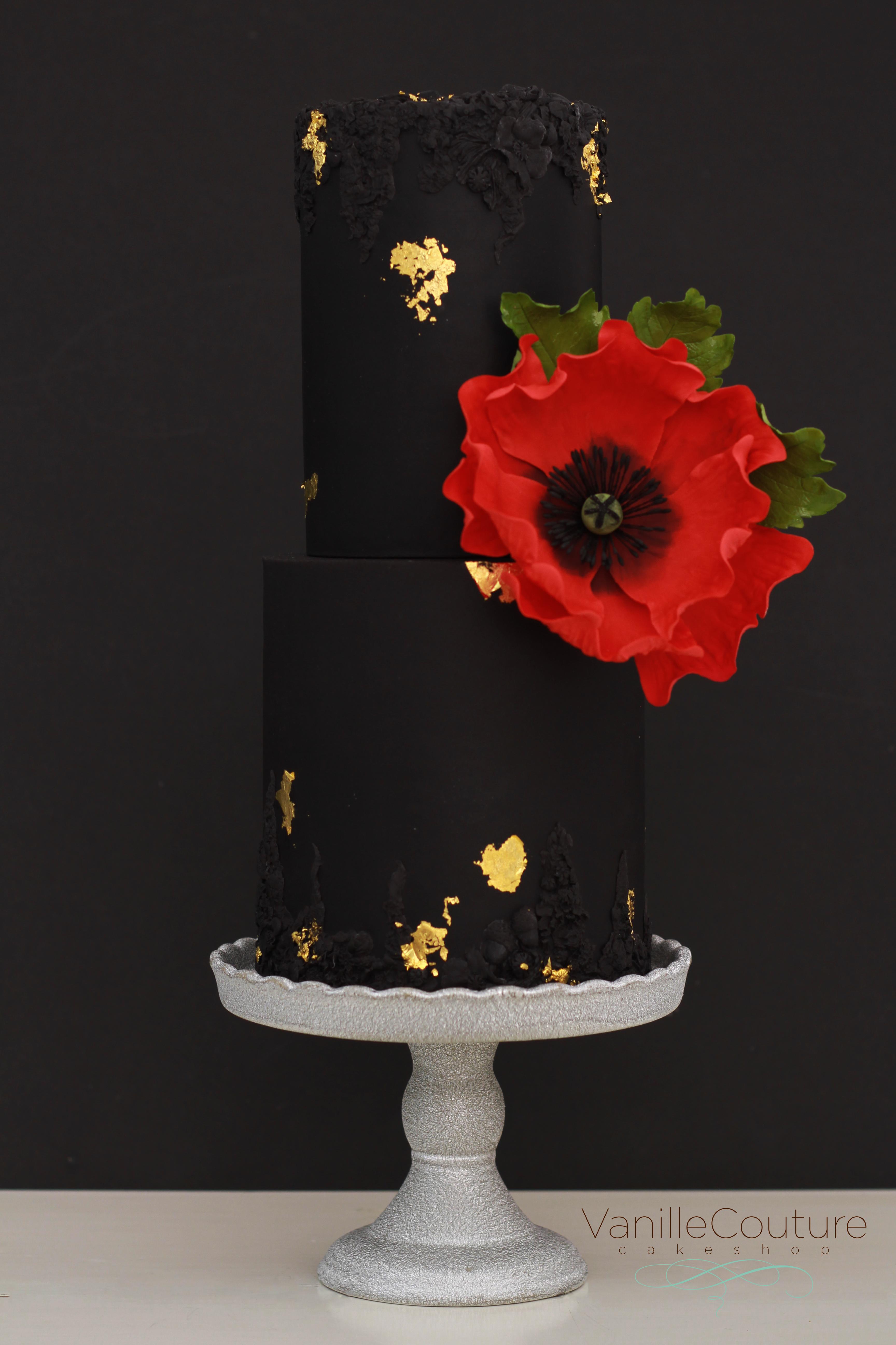 Black Wedding poppy flower