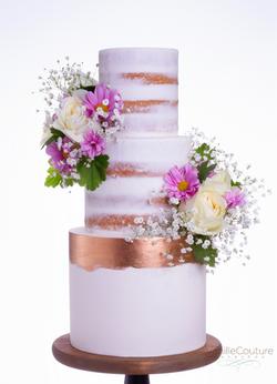 Pastel de boda naked cake clásico
