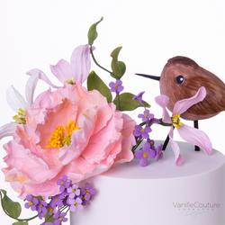 Figura y flores comestibles