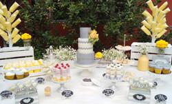 """Mesa de boda """"Gris y Amarillo"""""""