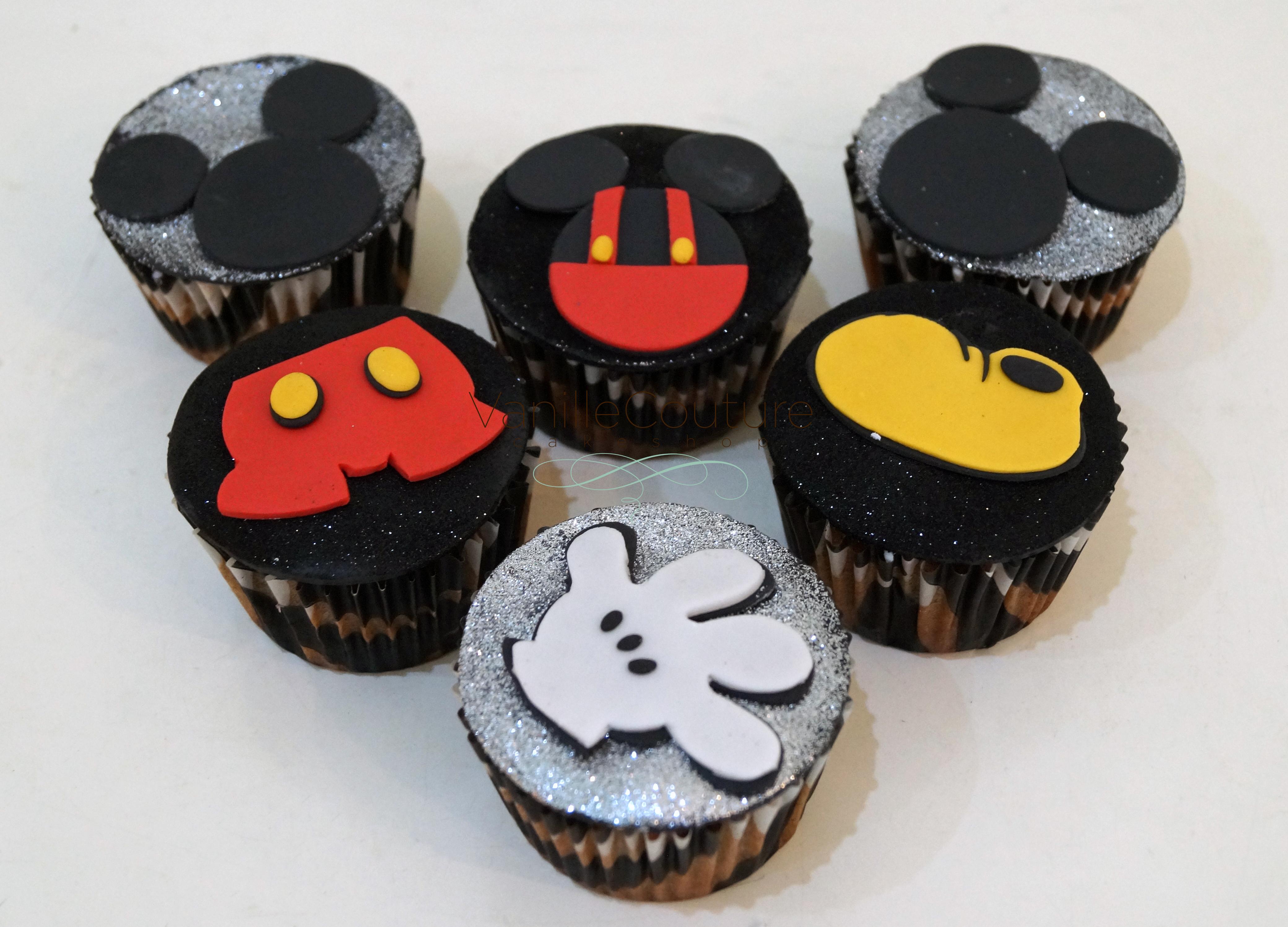 Glitter Mickey Cupcakes