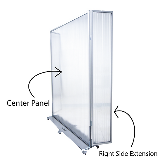6'H Standing Mobile Partition &Protective Barrier