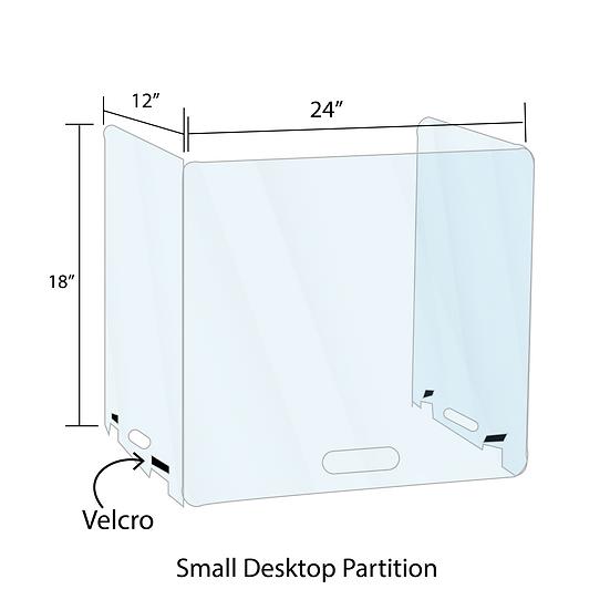 Portable Desktop Shield & Sneeze Guard