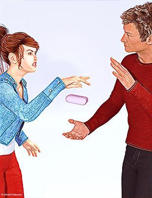 expression Passer un savon à quelqu'un illustration par Chabanon equivalent anglais francais