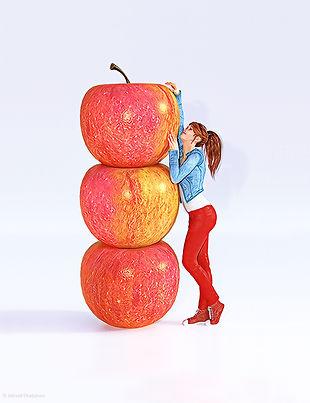 expression Etre haut comme trois pommes illustration par Chabanon equivalent anglais francais