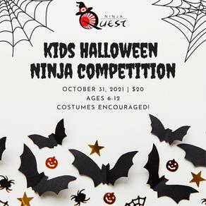 Kids Halloween Ninja Competition