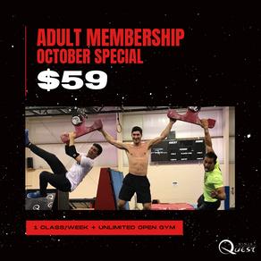 Adult Membership Special $59