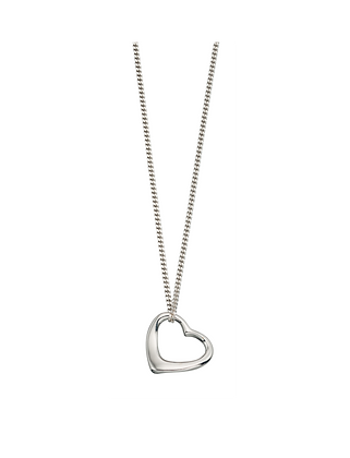 Small Silver Open Heart Necklace