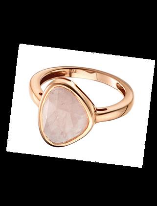 Rose Gold Rose Quartz Ring