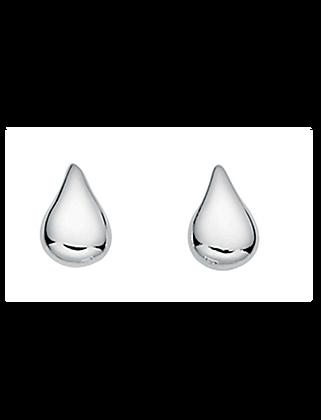 Silver Teardrop Stud Earring