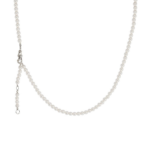 Faux Pearl Silver Chain
