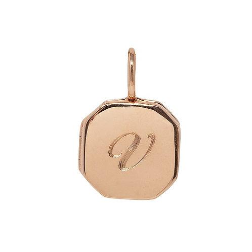 Engraved Locket Small Octagonal