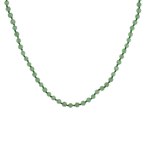 Dyed Green Jade Necklace