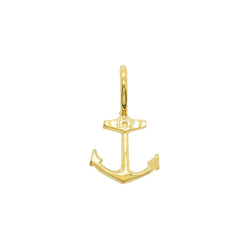 Sample Sale Yellow Gold Plated Mini Anchor