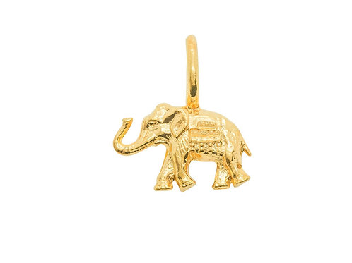 Sample Sale Elephant Yellow Gold Plated Charm Without Tusks