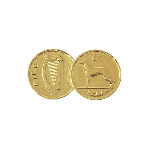 Double Irish 6d Coin Pendant