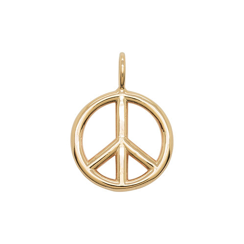 KMM Peace Sign - Large Rose Gold