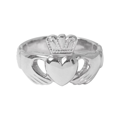 Silver Claddagh Ring - Adjustable