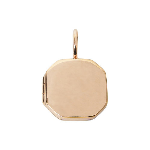 Locket Rose Gold Plated Large Octagonal
