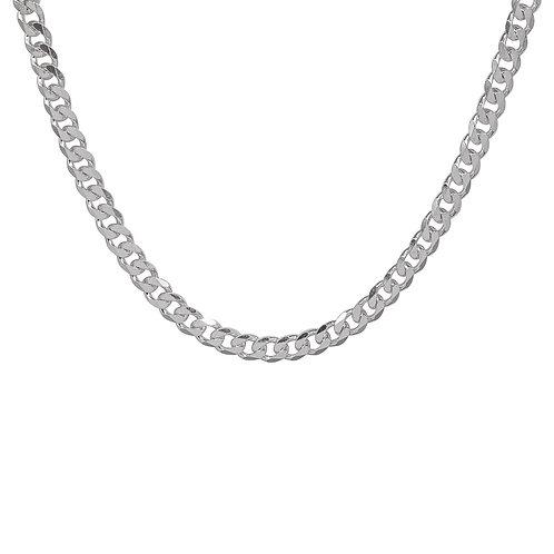 Silver Chunky 18 inch Curb Chain