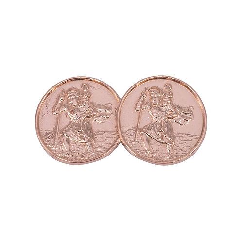 Double St Christopher Rose Gold Plated