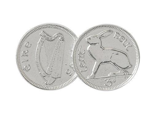 Double Irish 3d Coin Pendant