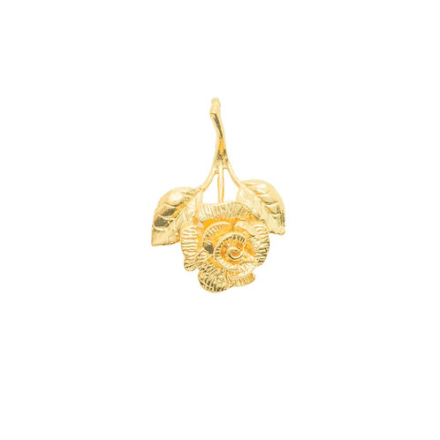 Sample Sale Yellow Gold Plated English Rose Charm