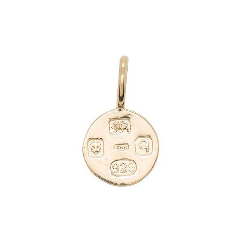 Small Hallmarking Circle Rose Gold
