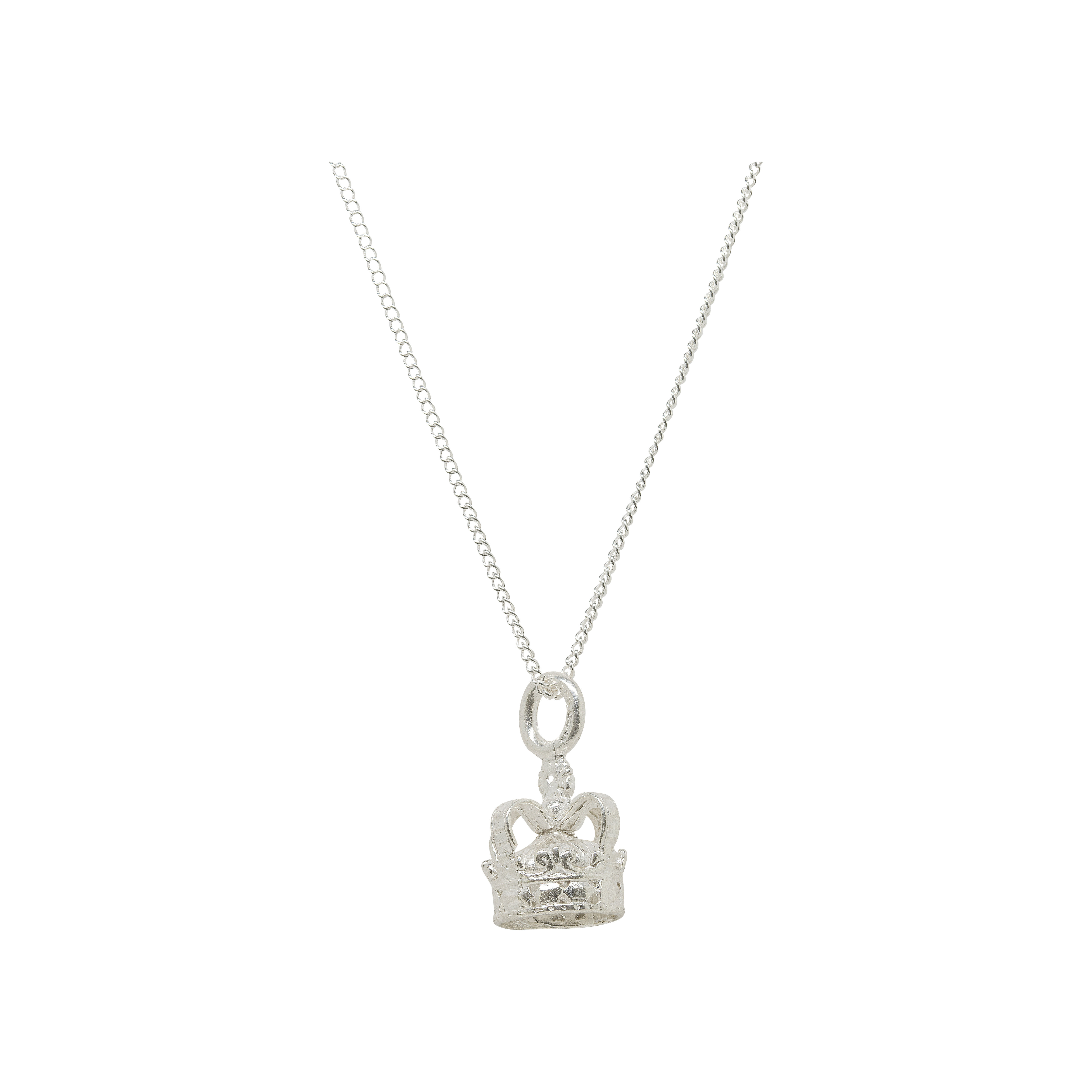 Katie Mullally Silver Crown Necklace 1N6Bm