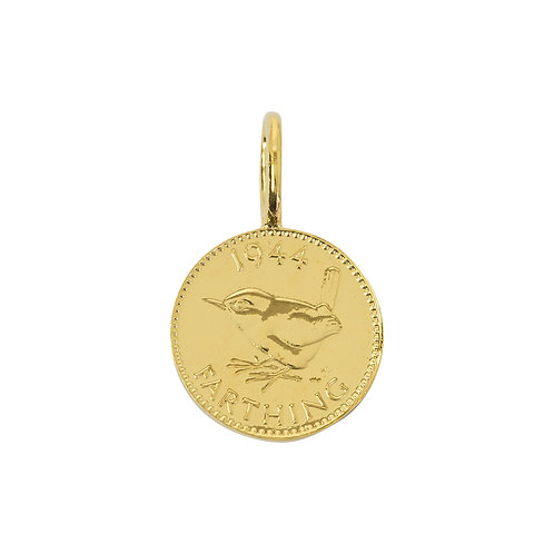 Gold 9 Carat English Farthing
