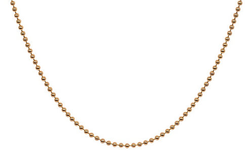 Yellow Gold Plated Bead 20 inch chain