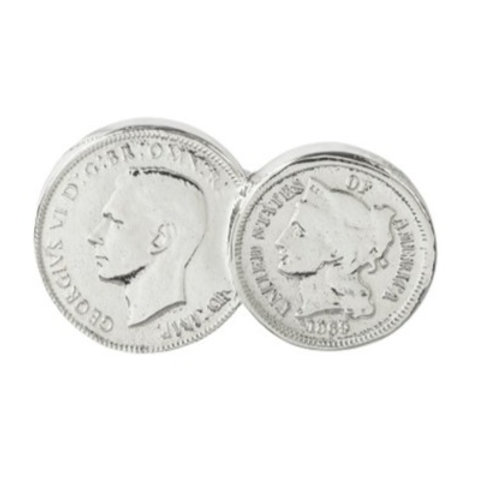 American / English Double Coin Charm