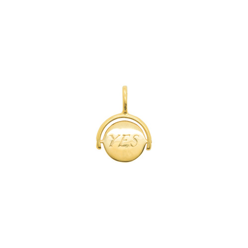 Katie Mullally Yes/No Choice Gold Plated Charm RVCueDM
